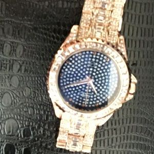 A real rose gold watch